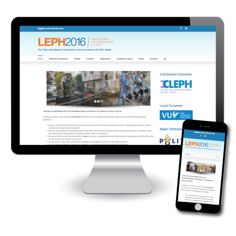 LEPH2016 Website