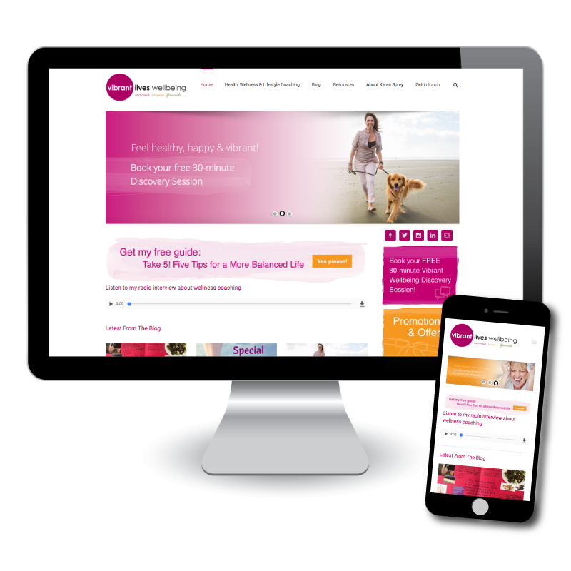 Vibrant Lives Wellbeing Website