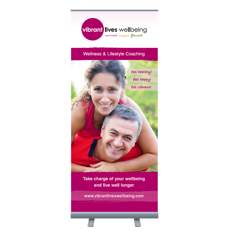 Vibrant Lives Wellbeing Pull-up Banner